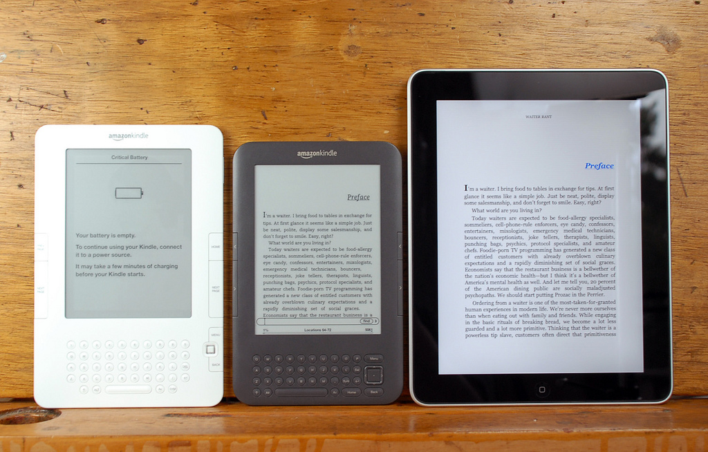 Formatage numérique : Andy Ihnatko Kindle 2, Kindle 3, and iPad