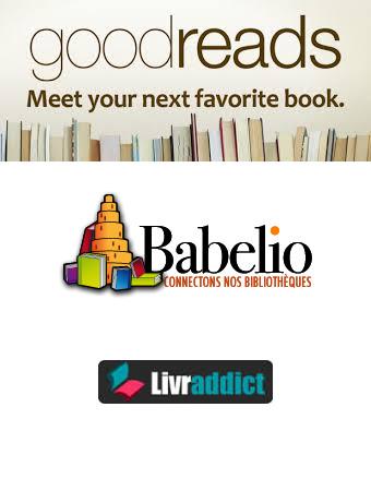 Goodreads- Babelio - Livraddict - logos