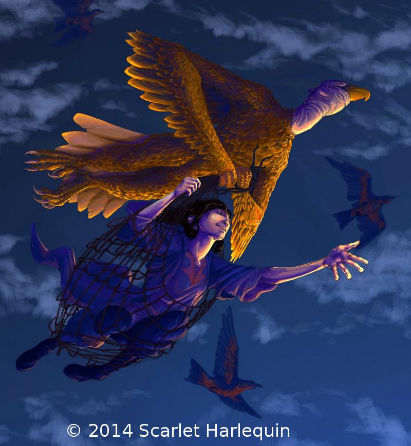 Illustration définitive - Scarlet Harlequin