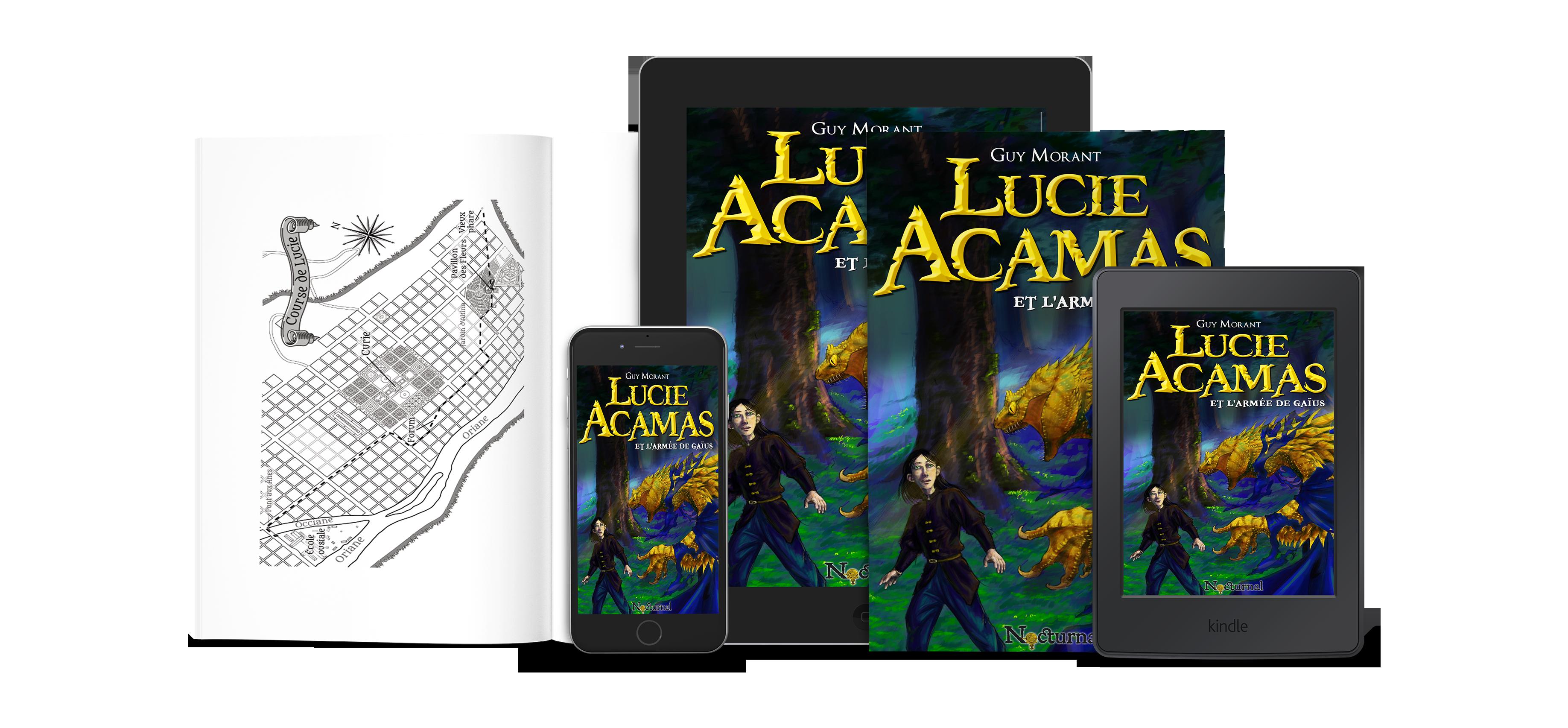 Lucie Acamas et l'armée de Gaïus - Kouvertures.com
